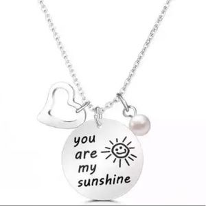 New 2019  Silver You are my Sunshine necklace